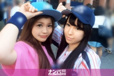 プロ野球観戦ナンパ 01 - かおり 20歳 OL みほ 20歳 アパレルショップ店員の画像