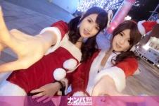 クリスマスナンパ 01 - みおり 21歳 占い師見習い さくら 24歳 スムージーショップ店員の画像