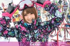 スノボナンパ 02 in 新潟 - まや 22歳 インフォメーションセンターの受付嬢の画像